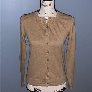 LOFT tan cardigan sweater XS